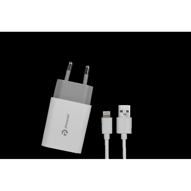 PHONEAKS Lightning Girişli 1 Amper Şarj Cihazı