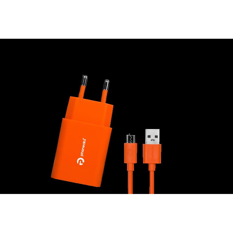 PHONEAKS Hızlı Şarj Cihazı Micro USB Girişli Qualcomm'un Quick 3.0 Amper