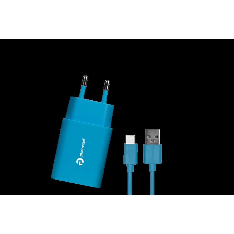 PHONEAKS TYPE-C USB 2.1 Amper Şarj Cihazı