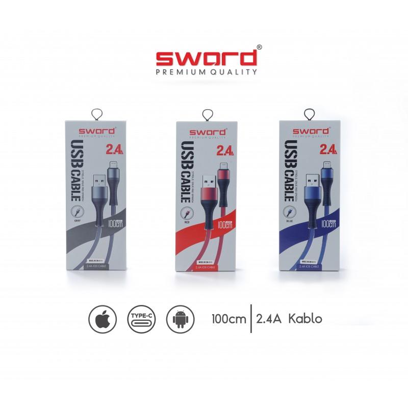 SWORD 2.4 Amper Type-c USB Kablo