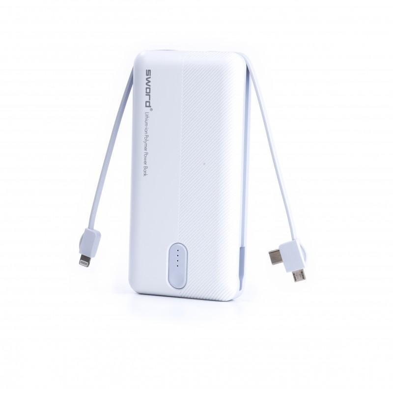 SWORD 20000 mah Kendinden Kablolu Powerbank SW-20PO3